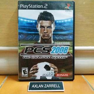 Playstation 2 Original Games : PS2 Pro Evolution Soccer PES 2008