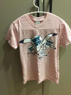 GALOOP 粉紅色 海鷗插畫T恤 全新吊牌未拆