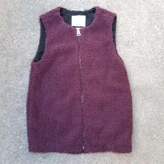 Aritzia wilfred teddy sherpa vest