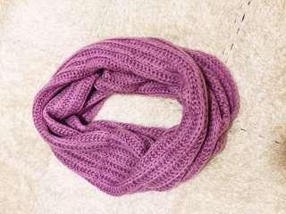 紫色頸巾purple circle scarf