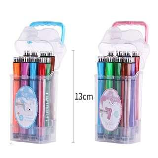 2-In-1 Marker Stamp In Storage Handle Box