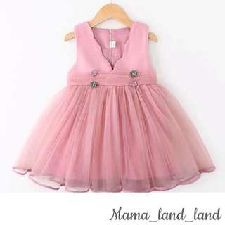 Princess baby / kid girl party lace flower dress 👗