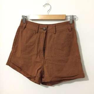 Tan high waisted shorts BNWT