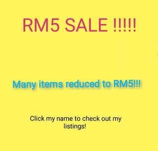 RM5 SALE!!!