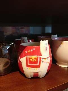 台灣直送 Starbucks 星巴克 聖誕節 草泥馬 羊咩咩 水杯 杯