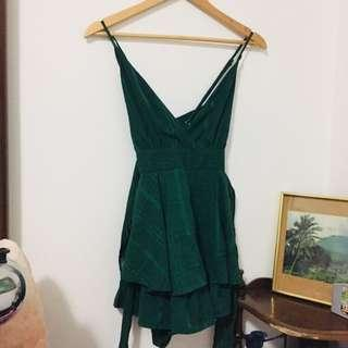 Forest green playsuit