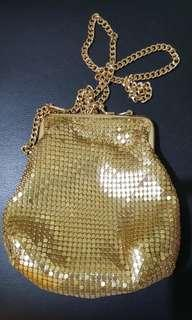 Forever 21 gold chain sequined sling /body bag