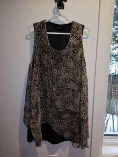 Long Cheetah Print Shirt