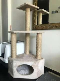 URGENT!! Beige Medium Sized Cat Tree