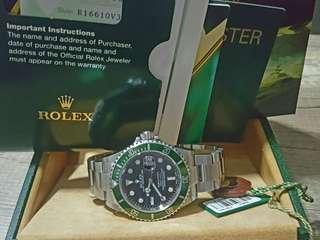 ROLEX 16610LV FULL SET  (100% MK1) 平頭四