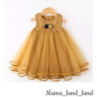 Princess girl flower ruffle party lace dress 👗