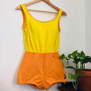 Vintage retro 50s-60s style one piece bathing suit