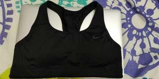 Nike black sports bra top black small