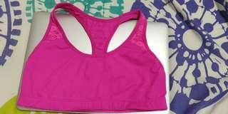 Victoria's Secret Sports bra yoga top pink small
