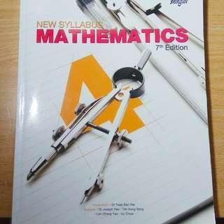 Mathematics Sec 4 Textbook(7th Edition)