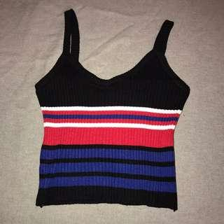 ulzzang striped top