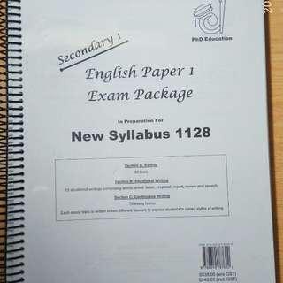 English Paper1 Exam Package (Sec1 New Syllabus)