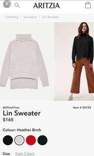 Aritzia Wilfred Lin Sweater