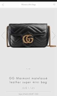 Gucci Matelasse Marmont Super Mini Bag