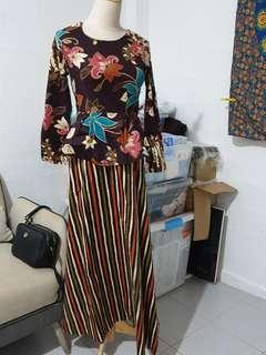 1 set Long Dress Batik