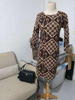 Bodycon Brown Batik