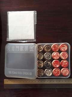 Portable animal-themed Chinese chess (Xiang Qi) set