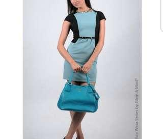 Maxinne Mint colorblock dress