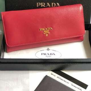 SALE !!! Authentic Prada Saffiano Long Wallet