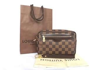 Authentic Louis Vuitton Damier Ebene Billet Macao Clutch