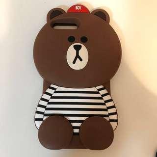 iPhone Case 8PLUS 7PLUS 100% new brown 熊大 電話殻