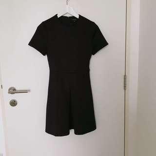 Zalora Wide Pleated Skater Dress