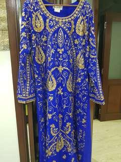 Beautiful Royal Blue Jalabiya