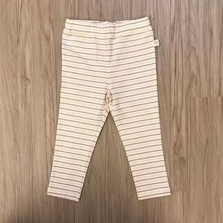 🚚 全新1/2 二分之一長棉褲 橫條 80cm