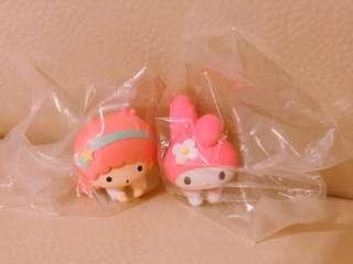 (可交換)Sanrio Little Twin Stars Melody Hugcot 套線公仔