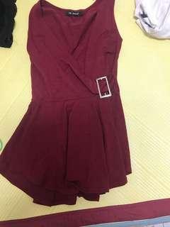v領無袖裙子
