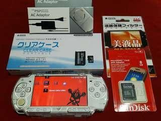 Ceramic White Psp slim 2000 8gb v6.60 Downloadable