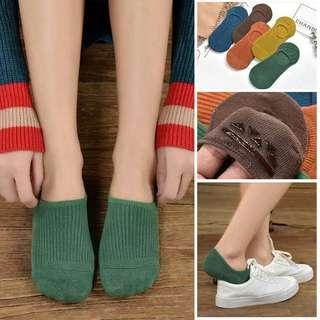 Anti-slip Boat socks invisible socks caramel colours