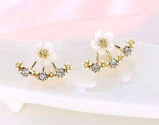 Crystal Rose Gold Boucle D'oreille