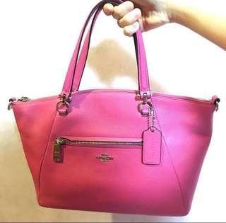 🈹100%real medium size coach bag 桃紅色