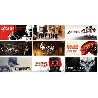 10 Random Steam Games + 1 Game Of Your Choice!