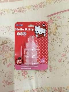 Hello Kitty teats (Liquid Silicon Nipple, FAST FLOW)