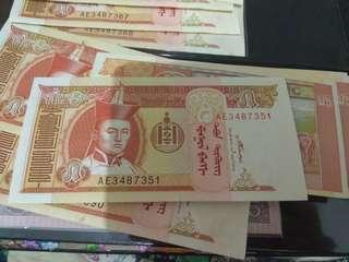 uang kertas Mongolia 2008