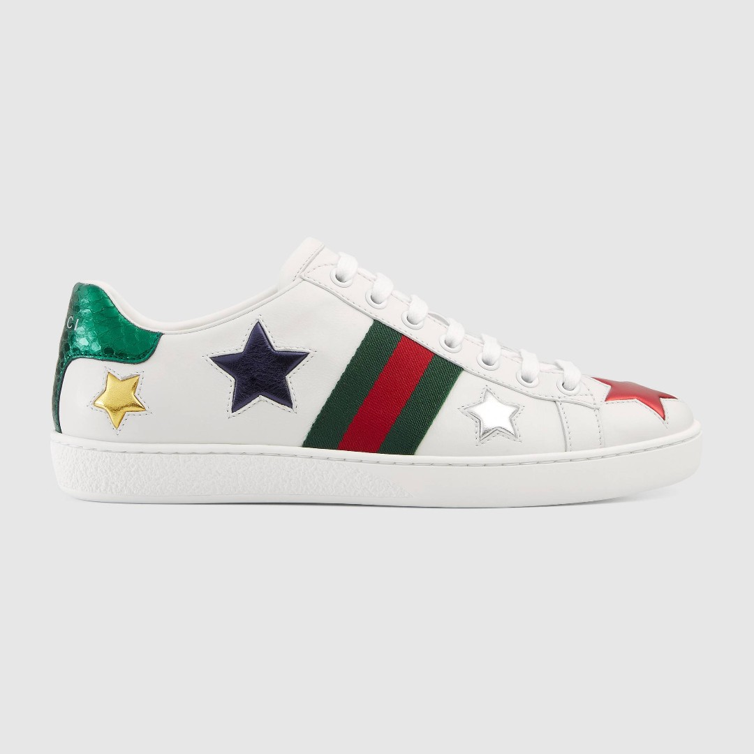 3585838d690 Ace embroidered with inlaid Multicolor Stars sneaker