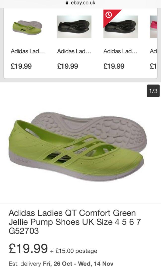 f76589bec10 Adidas Ladies QT Comfort Green Jellie Pump Shoes