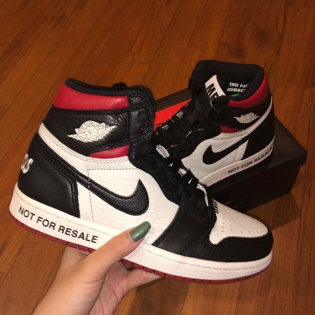 "online retailer 516a6 dd6a3 Air Jordan 1 ""not for resale"", Men's Fashion, Footwear ..."