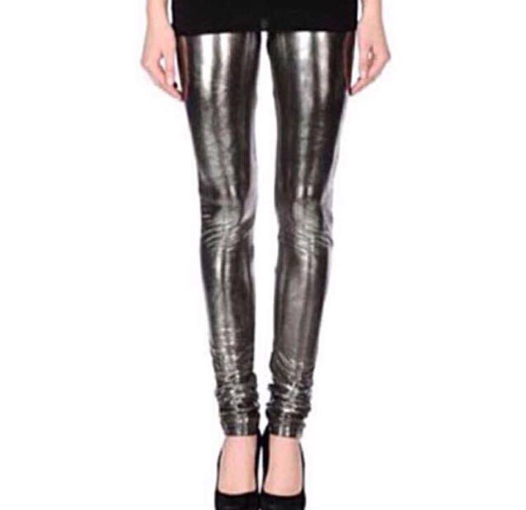 bbc037377cec3 All Saints Femme Fetale Metallic Leggings Pants Tights, Women's ...