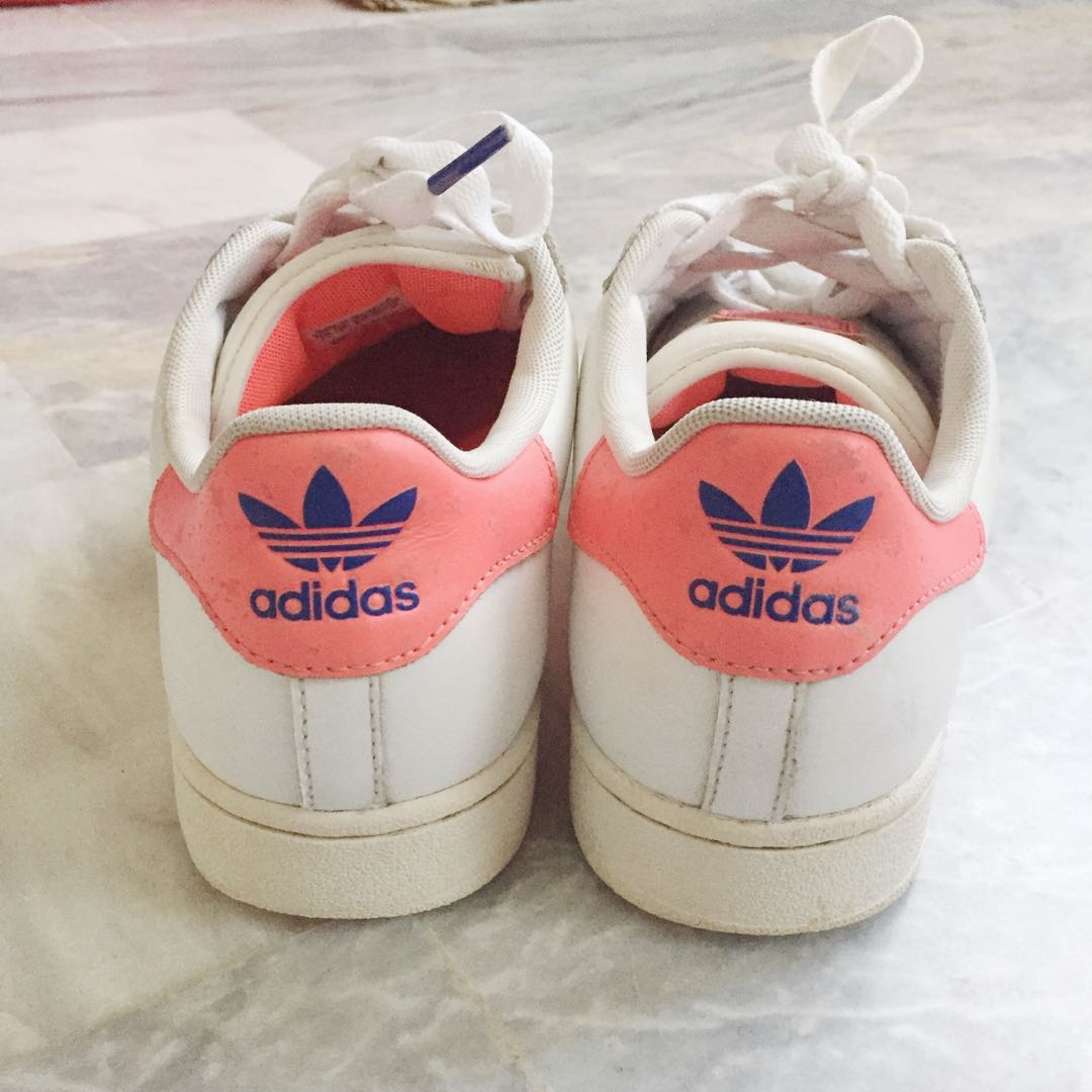 new products 2f2bd 8e0cd Authentic Adidas Superstar White x Pink, Women s Fashion, Shoes on Carousell