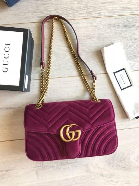 4d5b0330b8a3 BAG GG MARMONT VELVET VIP AUTHENTIC MIRROR HIGH QUALITY, Luxury ...