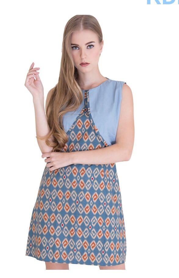 Batik Modern Design Shift Dress S Women S Fashion Clothes