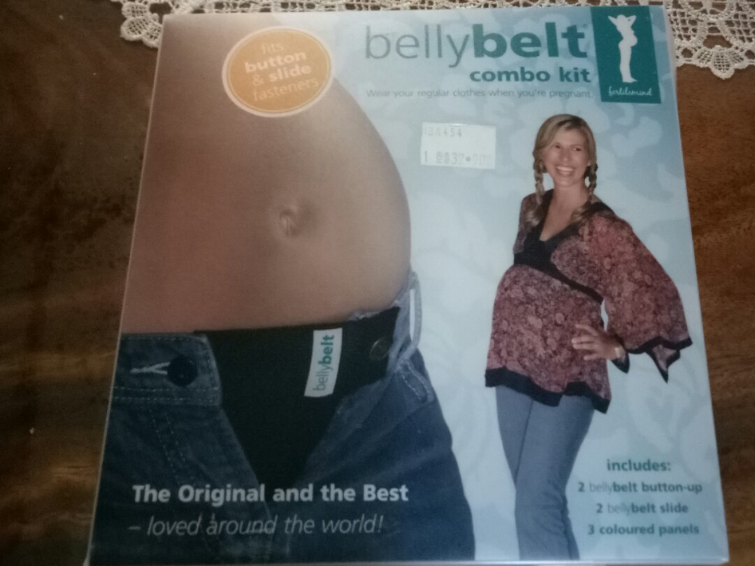 Style; In Fertile Mind Belly Belt Combo Kit Maternity Pregnancy Band 3 Pack Extender Fashionable